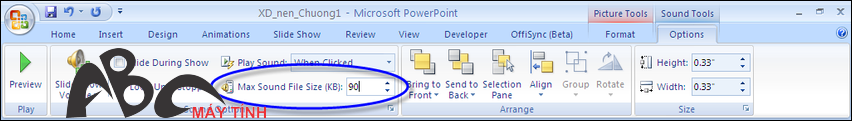 cách giảm dung lượng file PowerPoint