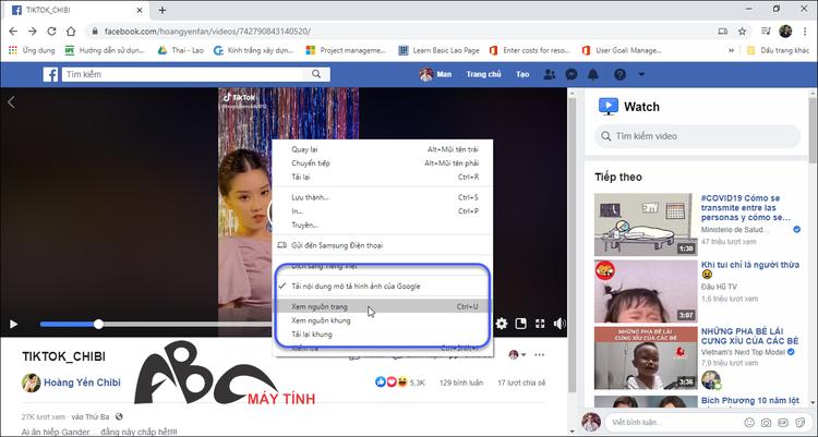 cách tải video từ Facebook