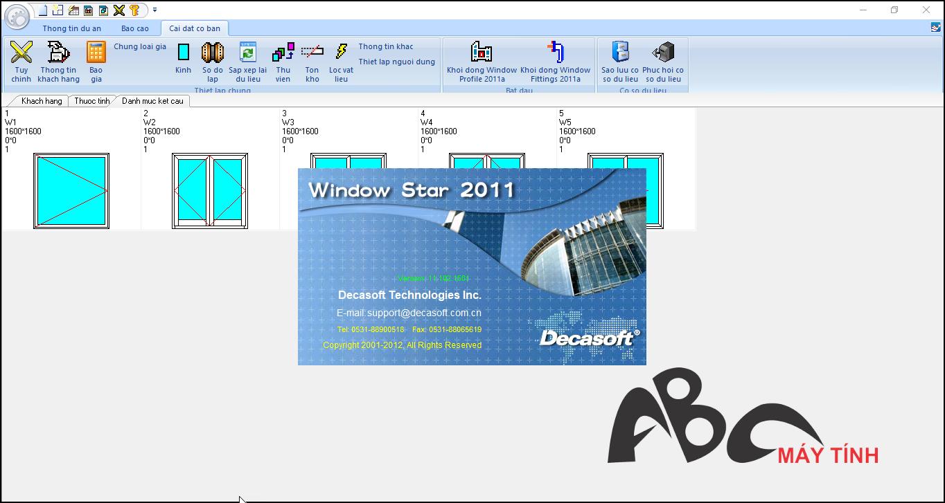 phần mềm nhôm kính Window Star 2011